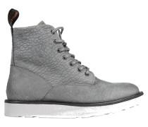 Schnürstiefel in grauem Leder