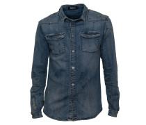 Jacke Rik im Used-Look blau