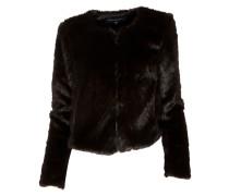 Verkürzte Kunstfell-Jacke black