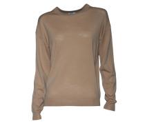 Pullover aus Merinowolle in Rosa-Beige