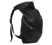 Rucksack Nile Alias aus Leder schwarz