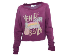 Pullover Print Venice Beach dirty bordeaux