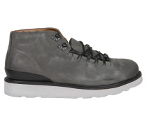 Schnürschuhe in grauem Leder