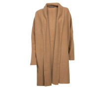 Strickjacke Fannyaus Wolle in Camel