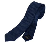 Schmale Krawatte mit Karomuster navy