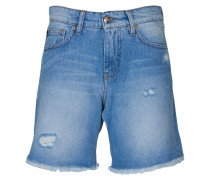 Jeans-Shorts Lucy in Blau mit Destroyed-Look