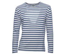 Pullover Tash Long gestreift in Creme & Blau
