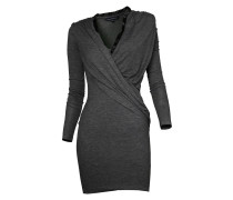 Jersey-Kleid grau meliert