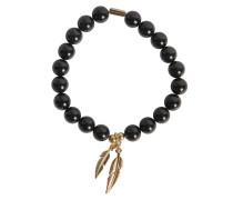 Armband Federn schwarz