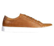 Ledersneaker in Braun