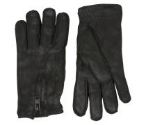 Handschuhe in schwarzem Leder