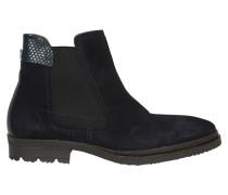 Chelsea Boots in blauem Veloursleder