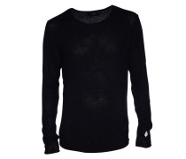 Pullover Rib in Schwarz