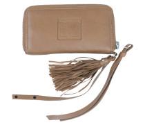 Portemonnaie aus braunem Leder