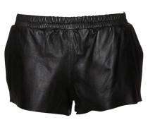 Zomi Leder-Shorts schwarz