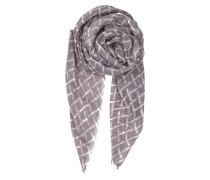 Tuch Kennedia aus Wolle & Seide gemustert in Grau