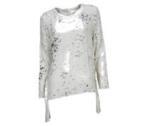 Bluse Susi in Weiß mit Tropfen-Print