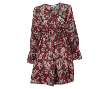 Bluse Doeskin gemustert in Rot
