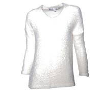 Pullover mit V-Ausschnitt creme
