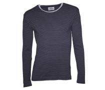 Sweatshirt Tobias Long grau-meliert/dunkelblau gestreift