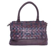 Flap Handtasche Flecht-Muster bordeaux