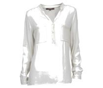 Bluse aus Viskose in Creme-Weiß