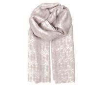 Tuch Ruplinger aus Seide und Wolle in Rosa gemustert