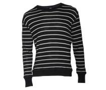 Pullover Kele gestreift in Schwarz-Weiss