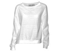 Pullover mit Loch-Musterierung in Weiss