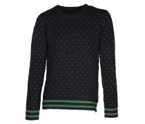 Woll-Pullover Kemple Dot blue/green