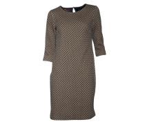 Kleid mit Musterung in Blau-Beige