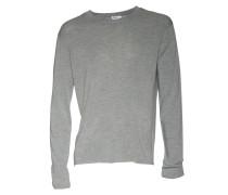 Pullover aus Merinowolle in Grau