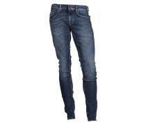 Jeans Slim mit blauer Waschung