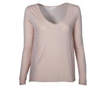 Oversized Pullover in Rosa-Beige