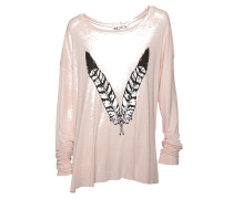Langarmshirt mit Print pinkwood