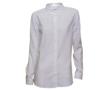 Bluse Selma Button in Weiss