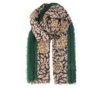 Tuch Laleh aus Wolle & Kaschmir mit Print braun