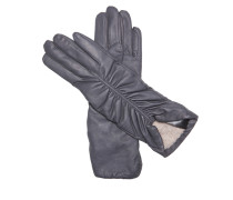 Handschuhe Pleat Leather mid grey