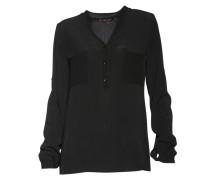 Bluse aus Viskose in Schwarz