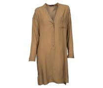 Hemblusen-Kleid Gill in Beige-Braun