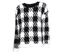 Stickpullover Thana black/ white