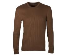 gerippter Pullover Ansal in Braun-Beige