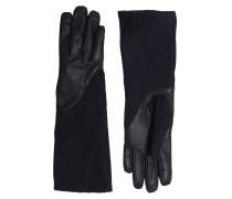 Handschuhe aus Ledermix schwarz