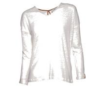 Pullover aus Leinen in Weiss