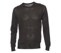 Merino-Pullover Sander dark oliv