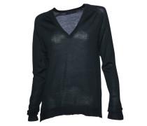 Pullover mit V-Ausschnitt dunkelgrün
