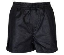 vegane Leder-Shorts Jumble in Schwarz