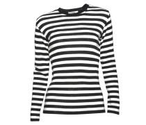Pullover Kaptine Zip gestreift creme-schwarz