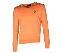 Pullover Cotton V-Neck orange sherbet