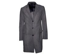Mantel strukturiert in Grau-Blau